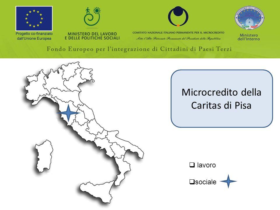Microcredito della Caritas di Pisa lavoro sociale