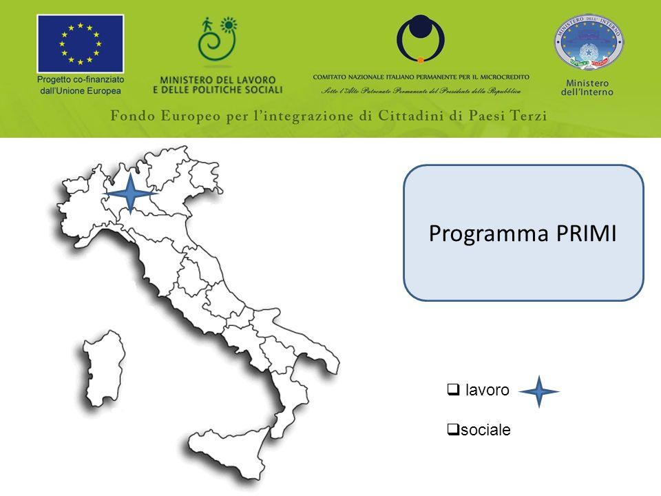 Programma PRIMI lavoro sociale