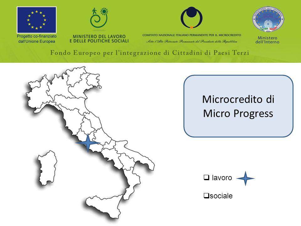Microcredito di Micro Progress lavoro sociale