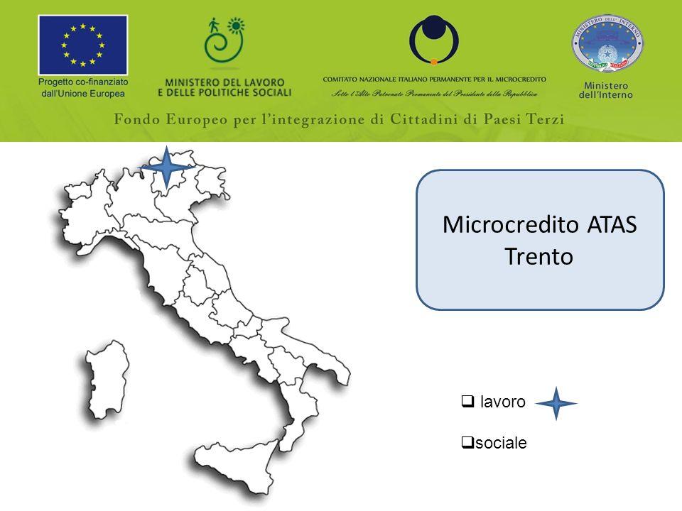 Microcredito ATAS Trento lavoro sociale