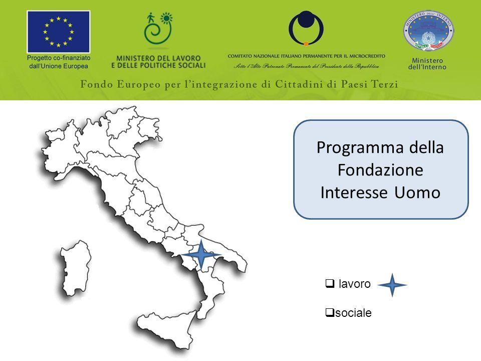Programma della Fondazione Interesse Uomo lavoro sociale