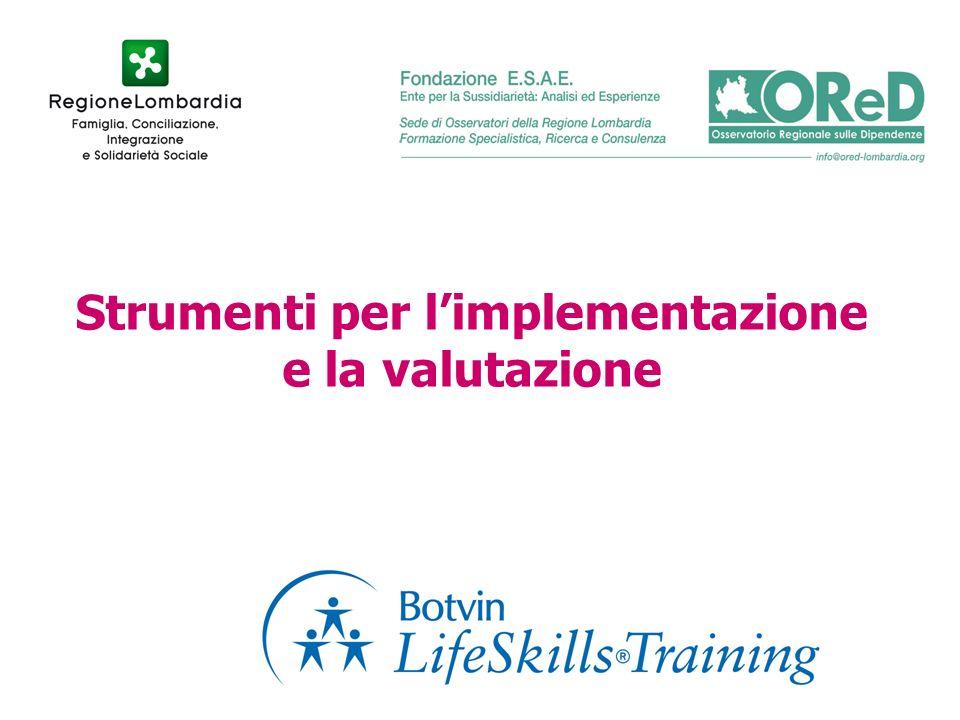 Strumenti per limplementazione e la valutazione