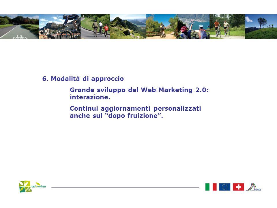 6. Modalità di approccio Grande sviluppo del Web Marketing 2.0: interazione.