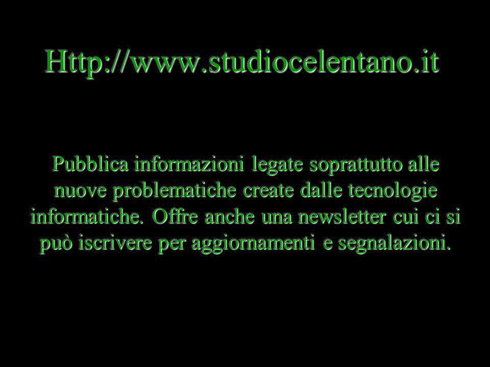 Http://www.notarlex.it/ E il sito gestito insieme dal Consiglio Nazionale del notariato e dellIstituto poligrafico e Zecca dello Stato. Si presenta di