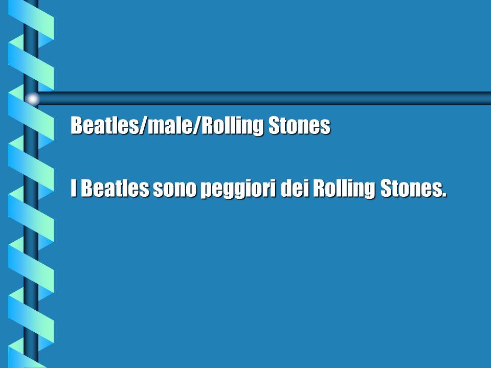 Beatles/male/Rolling Stones I Beatles sono peggiori dei Rolling Stones.