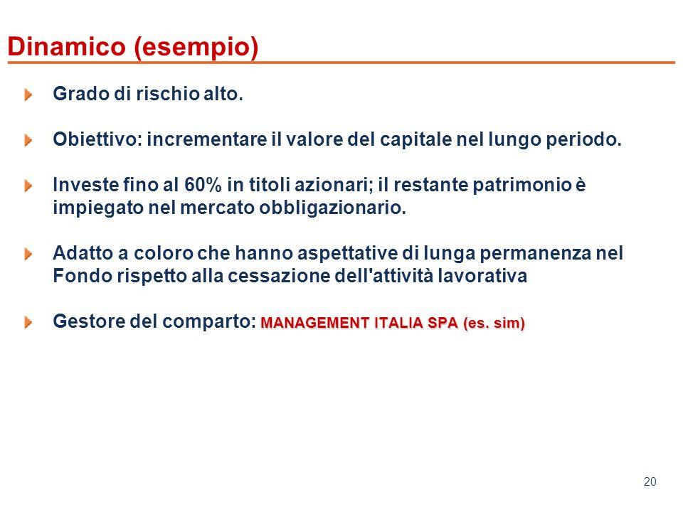 www.mefop.it 20 Grado di rischio alto.