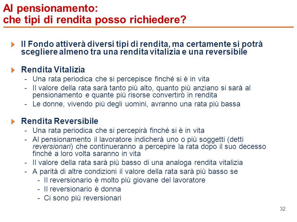 www.mefop.it 32 Al pensionamento: che tipi di rendita posso richiedere.