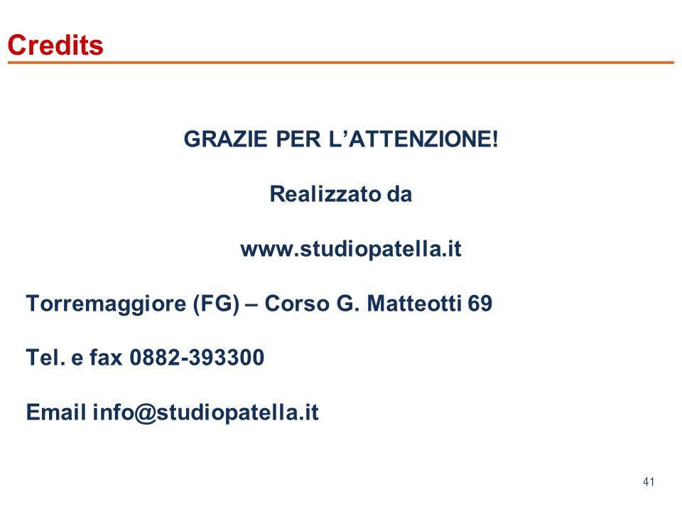 www.mefop.it 41 Credits GRAZIE PER LATTENZIONE.