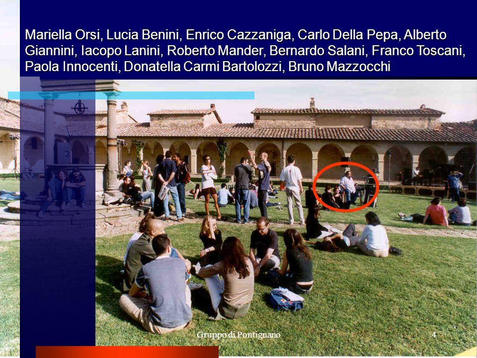 4 Mariella Orsi, Lucia Benini, Enrico Cazzaniga, Carlo Della Pepa, Alberto Giannini, Iacopo Lanini, Roberto Mander, Bernardo Salani, Franco Toscani, P