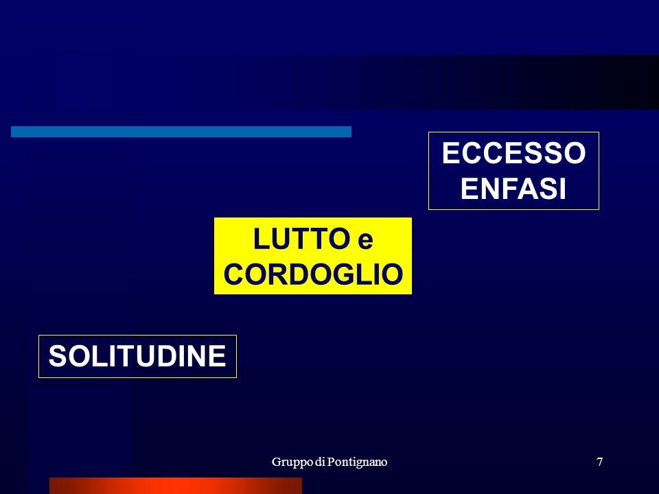Gruppo di Pontignano7 LUTTO e CORDOGLIO ECCESSO ENFASI SOLITUDINE