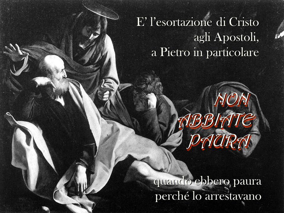 E la medesima esortazione rivolta agli apostoli, quando ebbero ancor più paura dopo che, risorto, apparve loro.