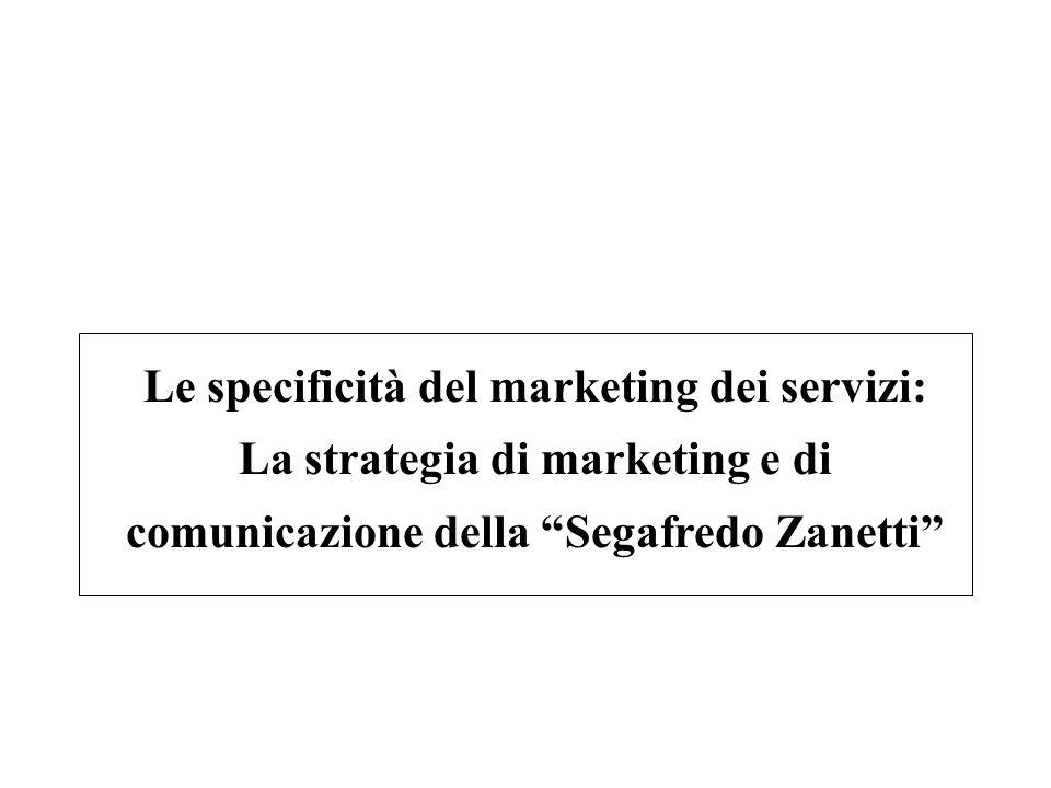 Le specificità del marketing dei servizi: La strategia di marketing e di comunicazione della Segafredo Zanetti