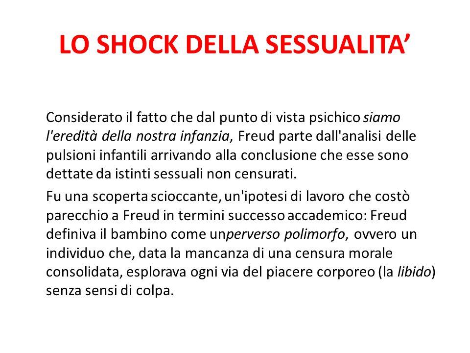 LO SHOCK DELLA SESSUALITA Considerato il fatto che dal punto di vista psichico siamo l'eredità della nostra infanzia, Freud parte dall'analisi delle p