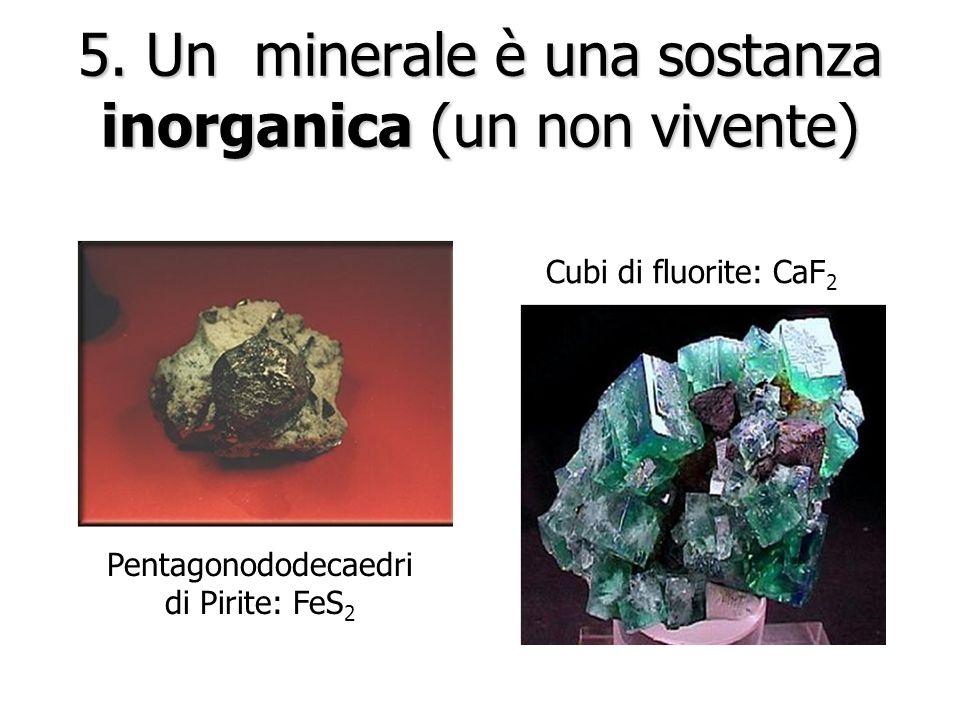 4. Gli atomi del minerale hanno una struttura ordinata, un reticolo cristallino, che è la ripetizione nello spazio della cella elementare