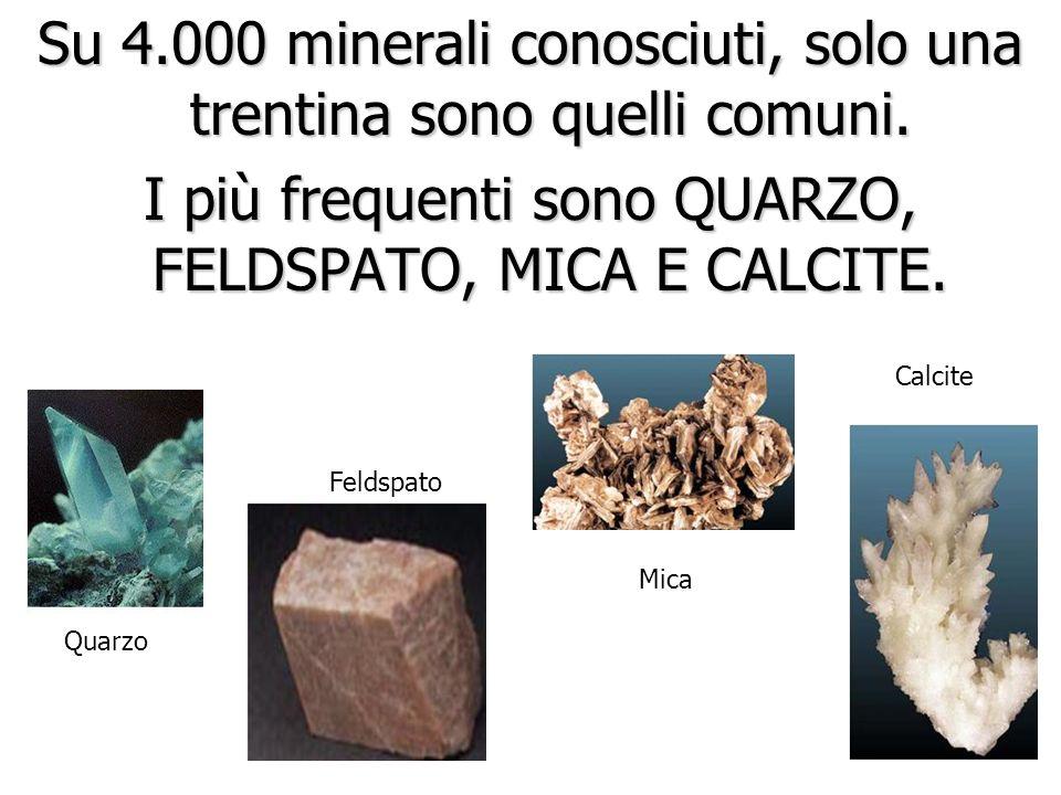 5. Un minerale è una sostanza inorganica (un non vivente) Pentagonododecaedri di Pirite: FeS 2 Cubi di fluorite: CaF 2