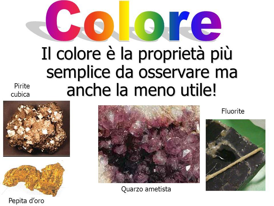 Ricorda!: Raramente un minerale è identificato tramite una singola proprietà. Ne servono molte di più!.