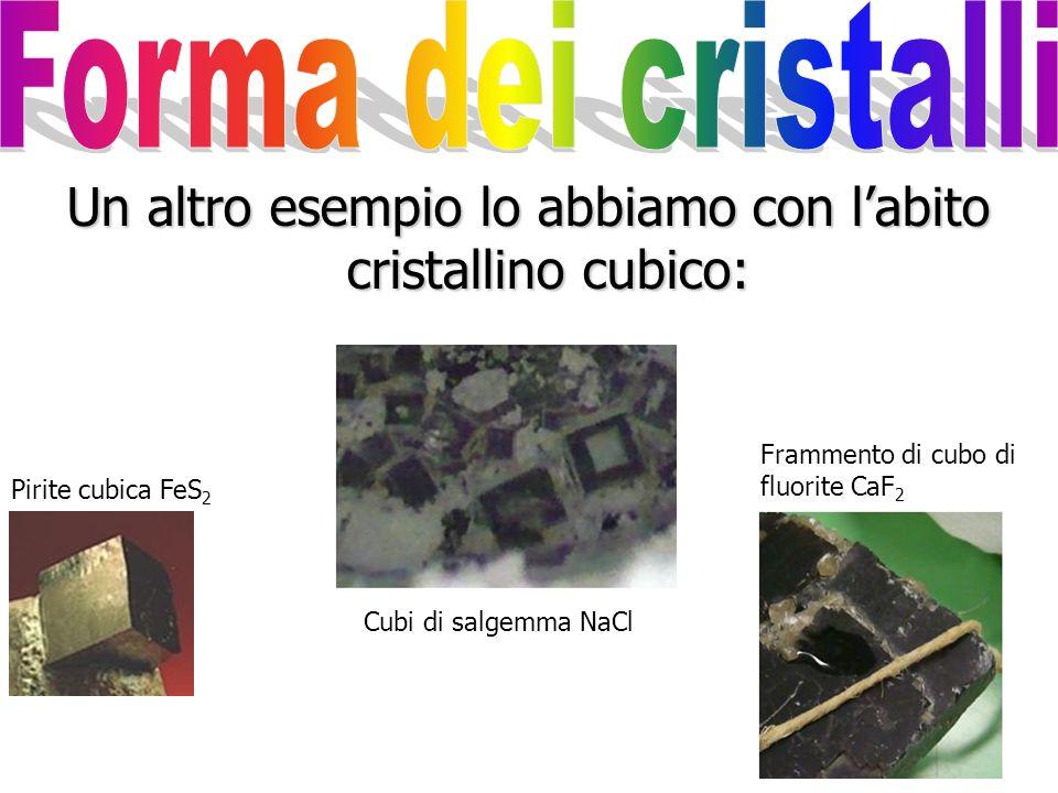 … ma spesso la forma dei cristalli non è utile perché, come per il colore, diversi minerali possono presentare lo stesso abito cristallino: Malachite