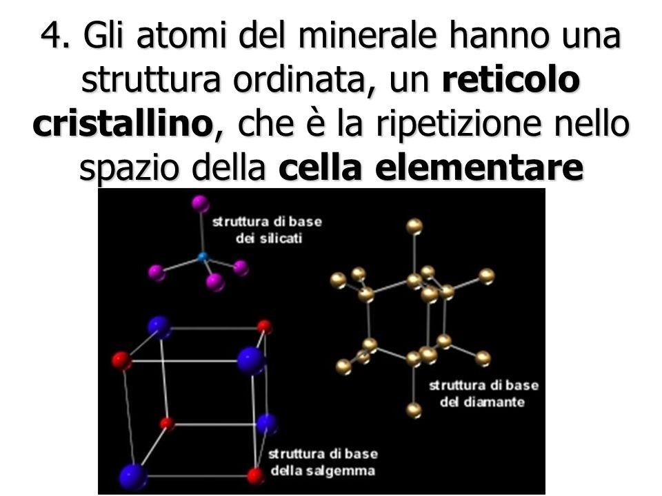 3. Un minerale ha una composizione chimica definita Pirite: FeS 2