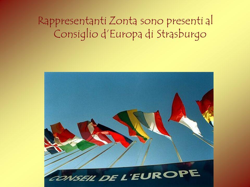 Rappresentanti Zonta sono presenti al Consiglio dEuropa di Strasburgo