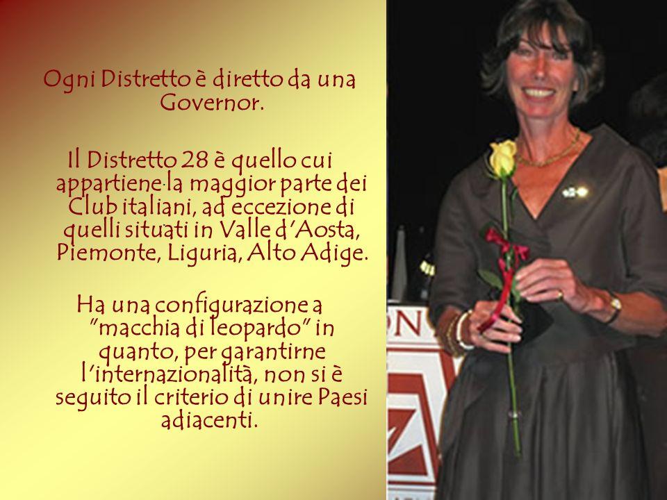 Ogni Distretto è diretto da una Governor. Il Distretto 28 è quello cui appartiene la maggior parte dei Club italiani, ad eccezione di quelli situati i
