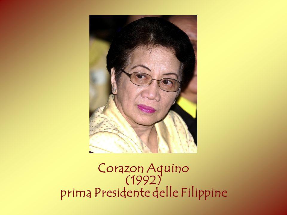 Corazon Aquino (1992) prima Presidente delle Filippine