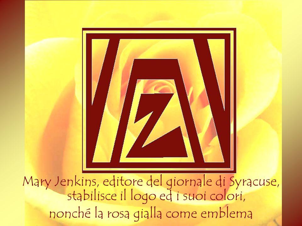 Mary Jenkins, editore del giornale di Syracuse, stabilisce il logo ed i suoi colori, nonché la rosa gialla come emblema 2