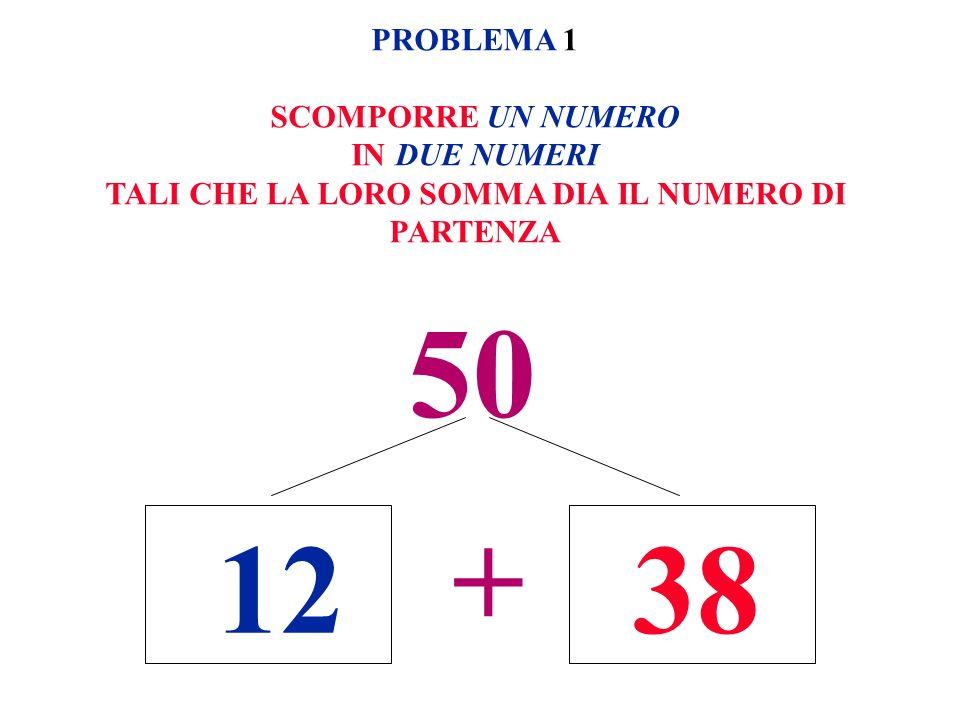 50 + PROBLEMA 1 SCOMPORRE UN NUMERO IN DUE NUMERI TALI CHE LA LORO SOMMA DIA IL NUMERO DI PARTENZA 1238