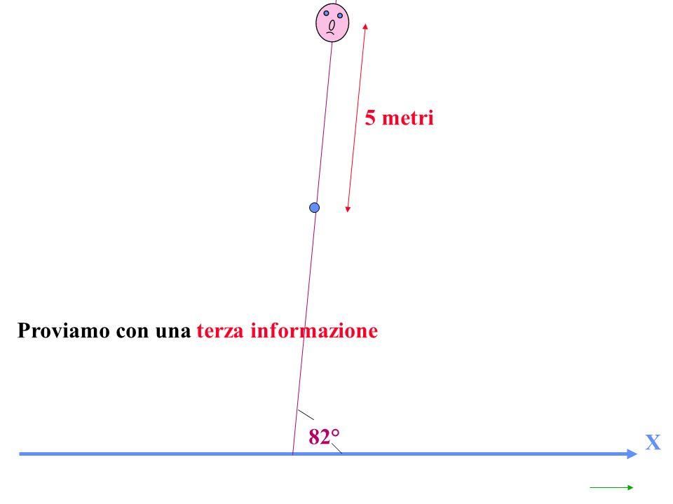 X 82° 5 metri Proviamo con una terza informazione