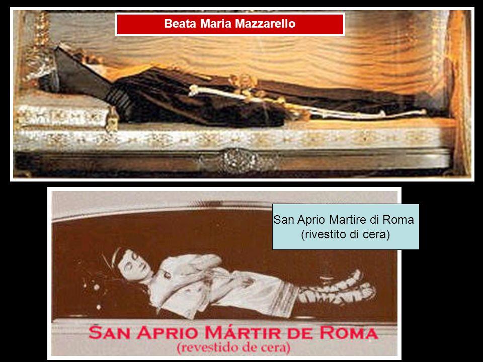 Beata Maria Mazzarello San Aprio Martire di Roma (rivestito di cera)