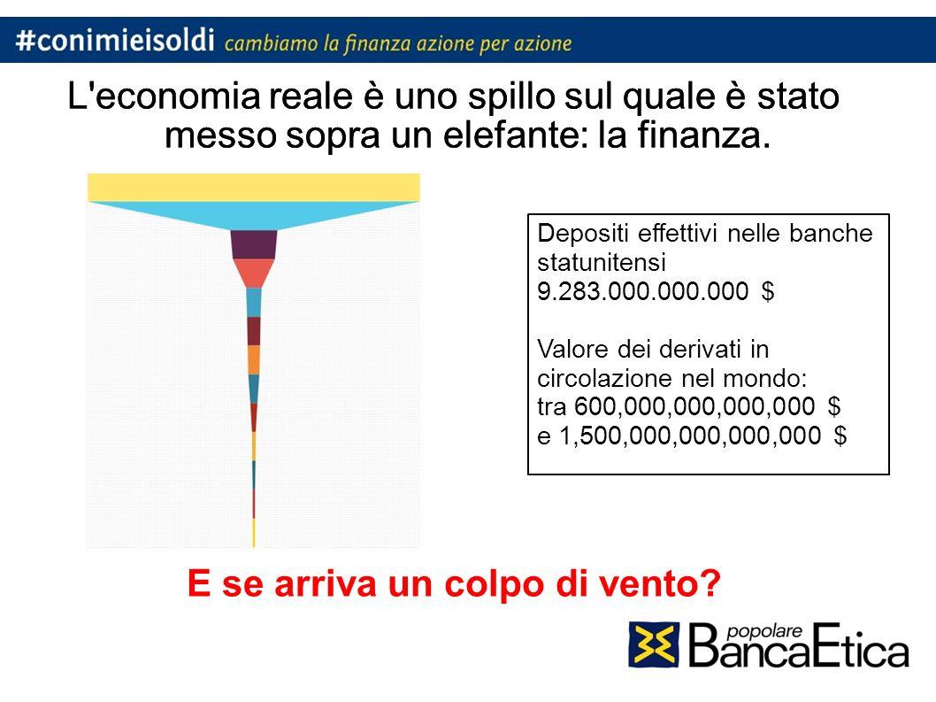 L economia reale è uno spillo sul quale è stato messo sopra un elefante: la finanza.