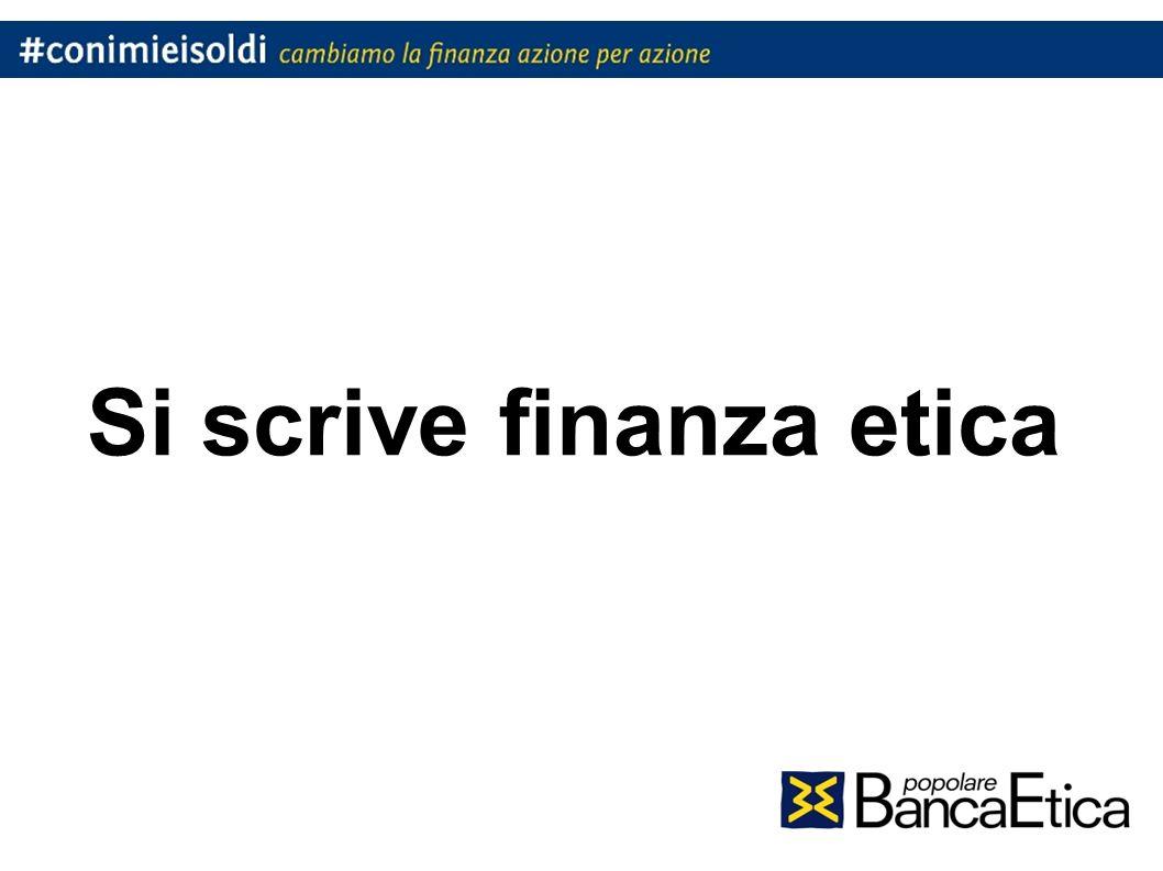 Si scrive finanza etica