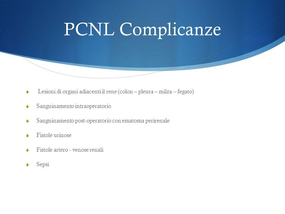 PCNL - SUPINA 1998 Valdivia-Uria descrive PCNL in posizione supina Da allora pochi Urologi hanno utilizzato questa tecnica Recentemente > attenzione per questa tecnica visti i potenziali vantaggi