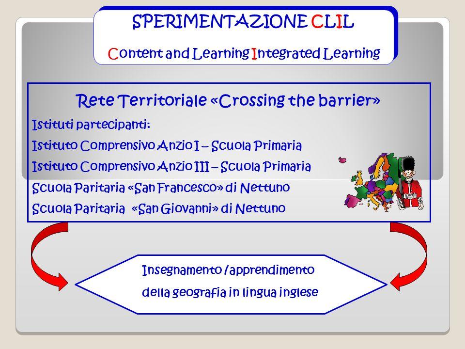 SPERIMENTAZIONE CLIL Content and Learning Integrated Learning SPERIMENTAZIONE CLIL Content and Learning Integrated Learning Rete Territoriale «Crossin