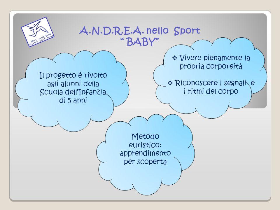 A.N.D.R.E.A. nello Sport BABY Il progetto è rivolto agli alunni della Scuola dellInfanzia di 5 anni Vivere pienamente la propria corporeità Riconoscer