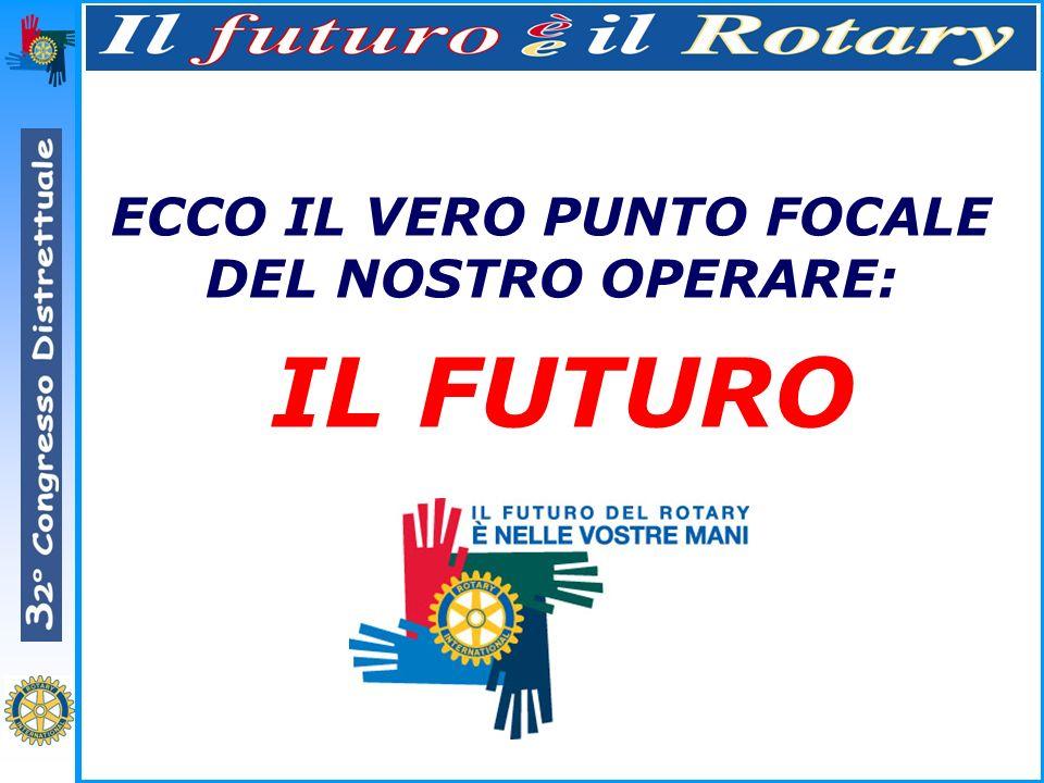 ECCO IL VERO PUNTO FOCALE DEL NOSTRO OPERARE: IL FUTURO