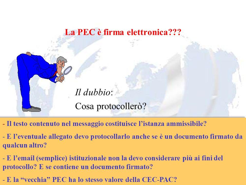 Andrea Lisi Copyright 2002-2009 Vietata diffusione e duplicazione La PEC è firma elettronica??? Il dubbio: Cosa protocollerò? - Il testo contenuto nel