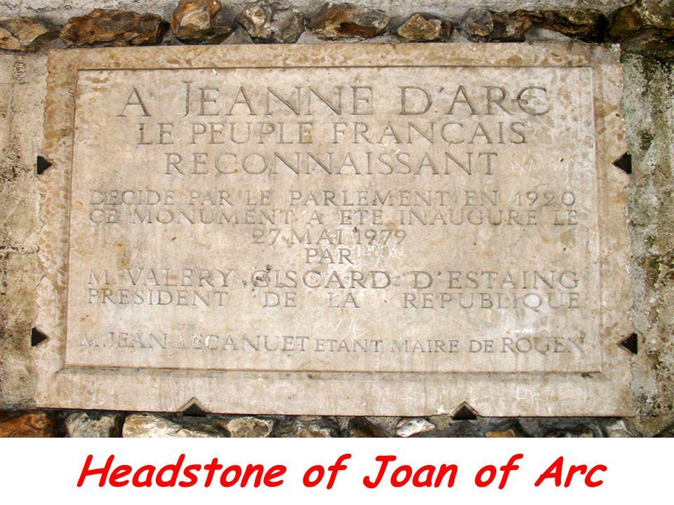 Headstone of Joan of Arc