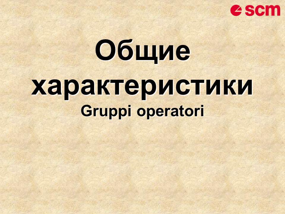 Общие характеристики Gruppi operatori