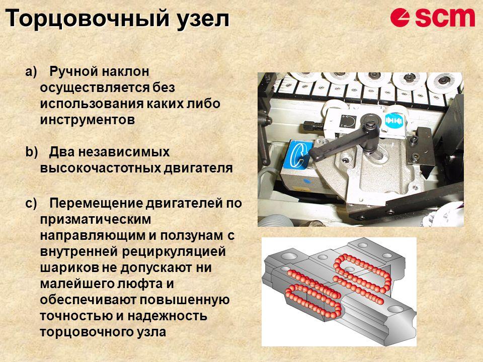 a)Ручной наклон осуществляется без использования каких либо инструментов b)Два независимых высокочастотных двигателя c)Перемещение двигателей по призм