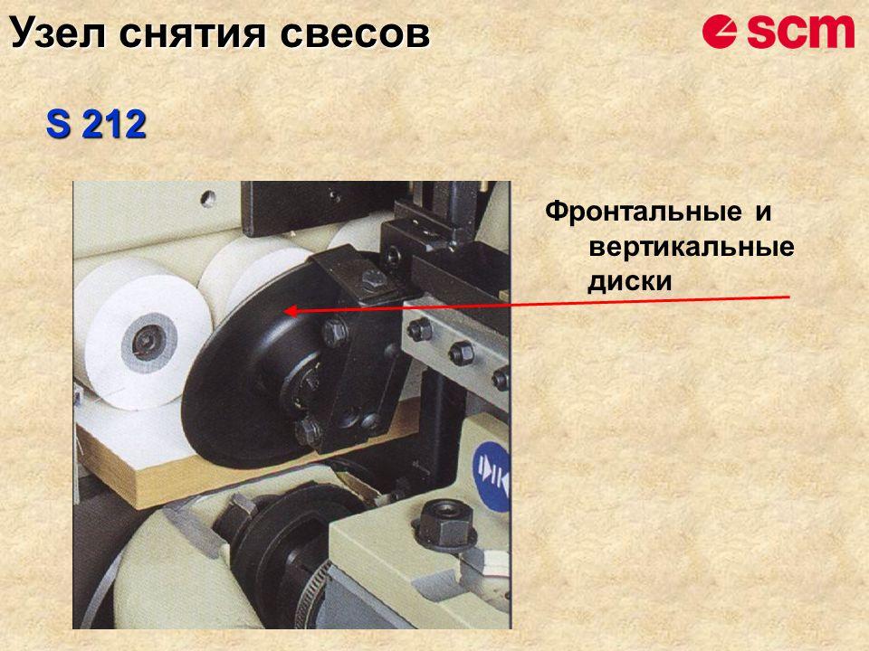 Фронтальные и вертикальные диски S 212 Узел снятия свесов