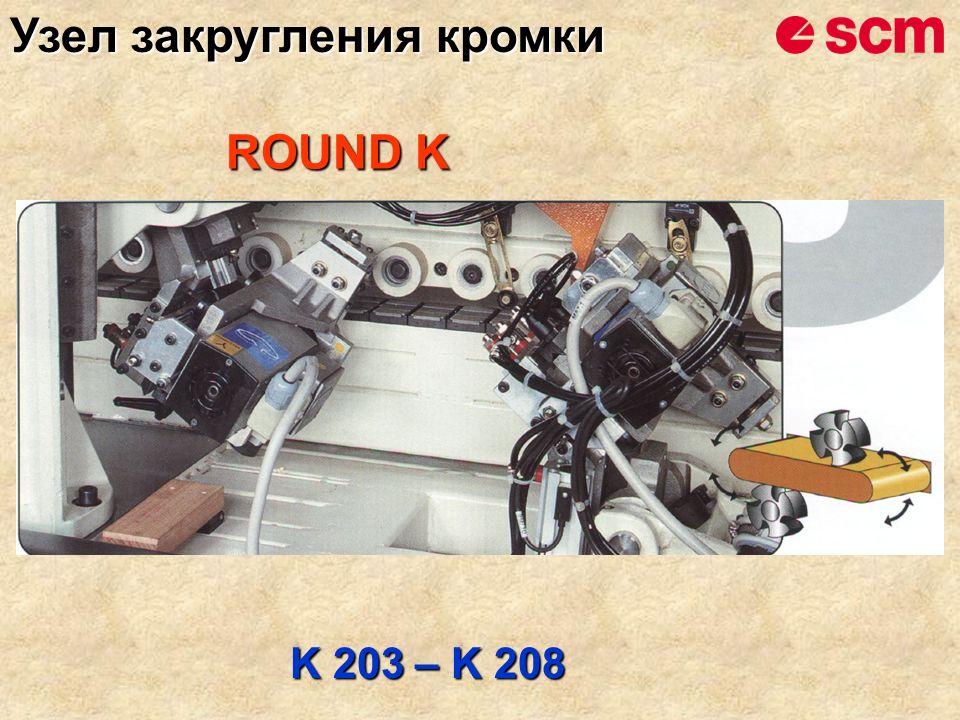 ROUND K K 203 – K 208 Узел закругления кромки