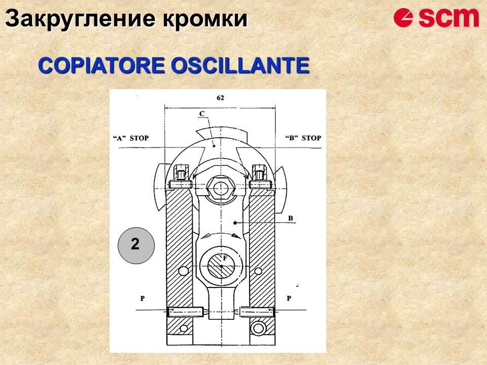 COPIATORE OSCILLANTE 2 Закругление кромки