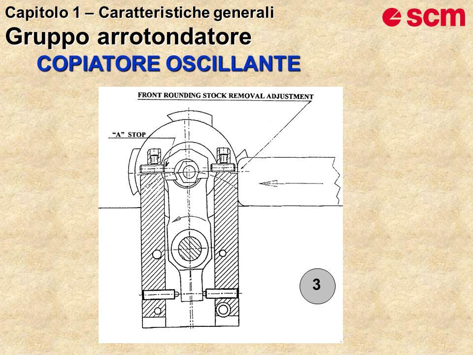 3 COPIATORE OSCILLANTE Capitolo 1 – Caratteristiche generali Gruppo arrotondatore