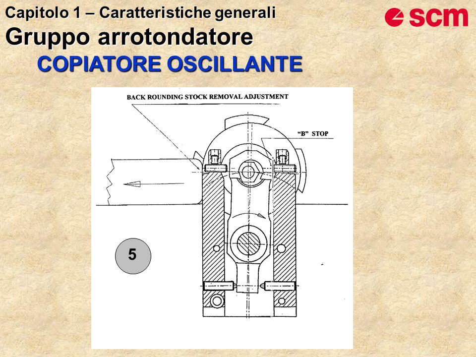 5 COPIATORE OSCILLANTE Capitolo 1 – Caratteristiche generali Gruppo arrotondatore