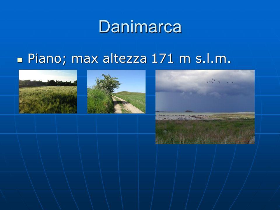 Danimarca Piano; max altezza 171 m s.l.m. Piano; max altezza 171 m s.l.m.