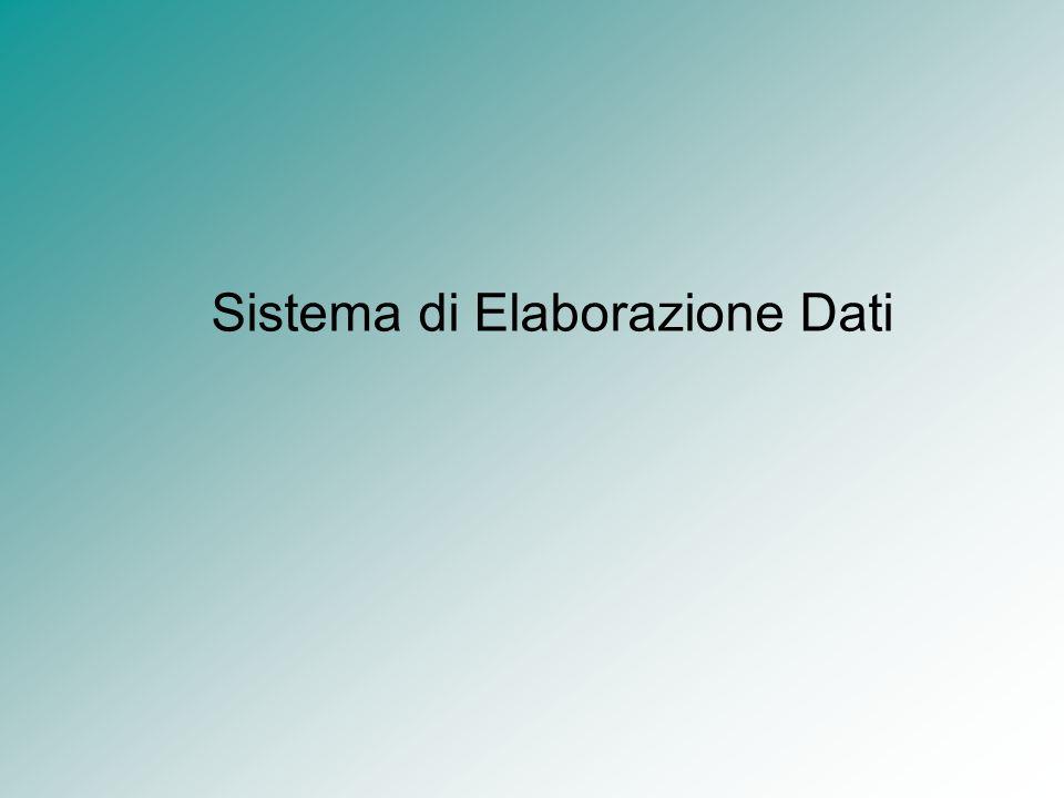 Sistema di Elaborazione Dati