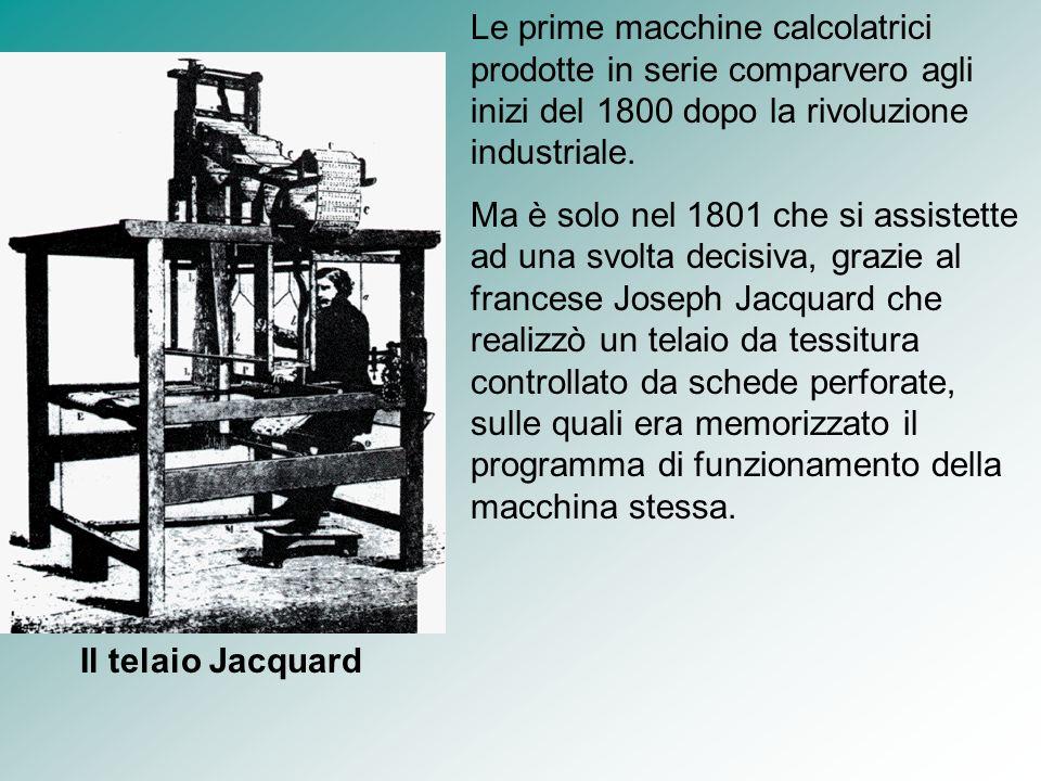 Le prime macchine calcolatrici prodotte in serie comparvero agli inizi del 1800 dopo la rivoluzione industriale. Ma è solo nel 1801 che si assistette