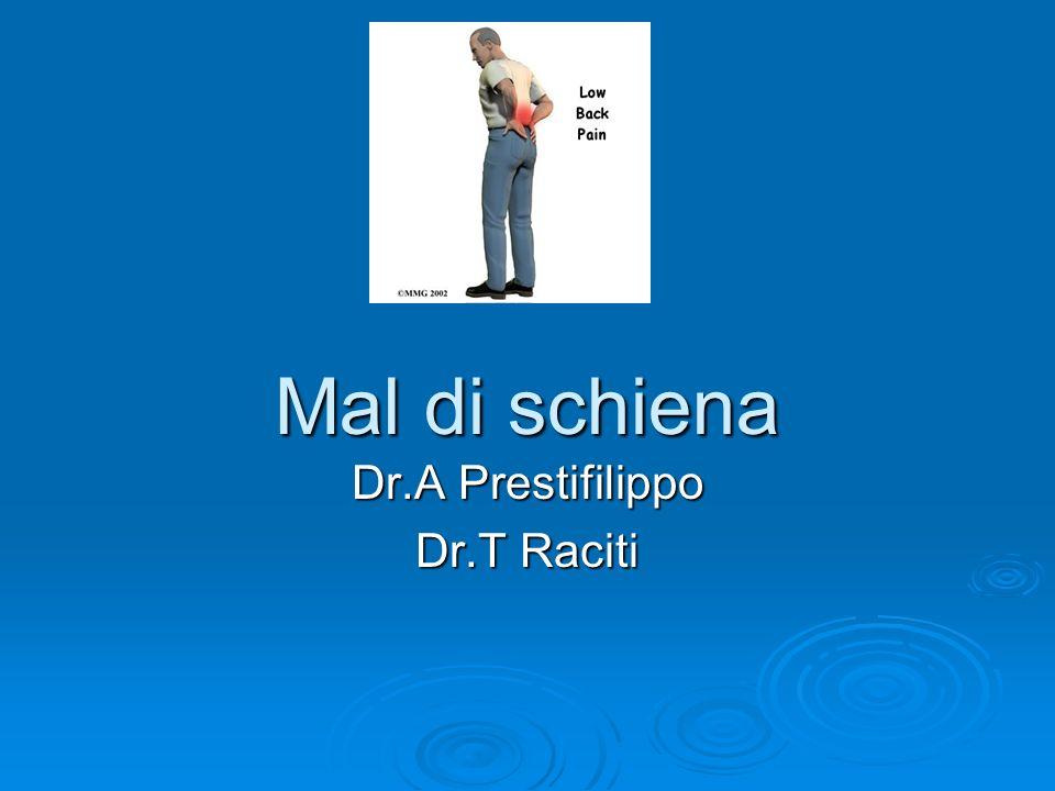 Mal di schiena Dr.A Prestifilippo Dr.T Raciti