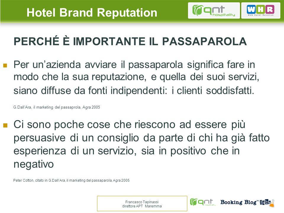 HOTEL REVIEWS Occorre distinguere quelle derivanti da Ota da quelle dei siti di condivisione della customer experience.