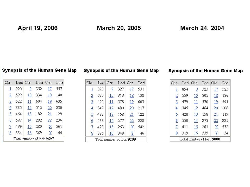 March 24, 2004March 20, 2005April 19, 2006